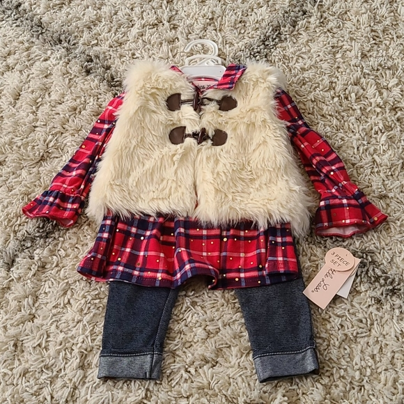 NWT Little Lass 3-Piece Outfit 12 Months